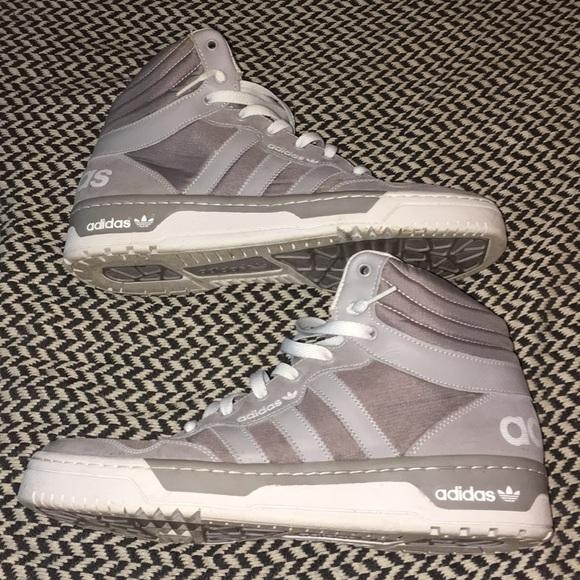 buy popular 13eda 4904c Grey Adidas Irvington Mid High Top Sneakers